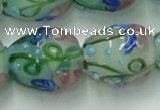 CLG826 15.5 inches 14*18mm pear lampwork glass beads wholesale