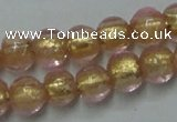 CLG830 12 inches 6mm round lampwork glass beads wholesale