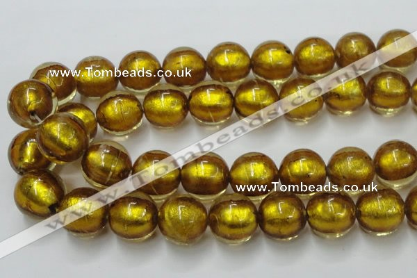 CLG850 15.5 inches 18mm round lampwork glass beads wholesale