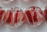 CLG852 15.5 inches 18mm round lampwork glass beads wholesale