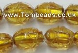 CLG882 2PCS 16 inches 12*18mm oval lampwork glass beads wholesale