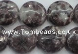 CLI01 15.5 inches 20mm flat round natural lilac jasper beads wholesale