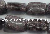 CLI07 15.5 inches 18*25mm rectangle natural lilac jasper beads wholesale