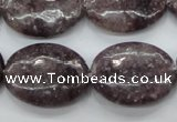 CLI30 15.5 inches 18*25mm oval lilac jasper beads wholesale