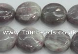 CLI56 15.5 inches 20mm flat round natural lilac jasper beads wholesale
