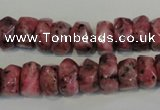 CLJ247 15.5 inches 6*11mm faceted nuggets dyed sesame jasper beads