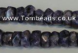 CLJ248 15.5 inches 6*11mm faceted nuggets dyed sesame jasper beads