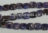 CLJ254 15.5 inches 8*8mm square dyed sesame jasper beads wholesale