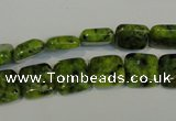 CLJ260 15.5 inches 10*10mm square dyed sesame jasper beads wholesale