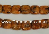 CLJ261 15.5 inches 10*10mm square dyed sesame jasper beads wholesale