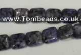 CLJ263 15.5 inches 10*10mm square dyed sesame jasper beads wholesale