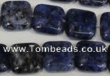 CLJ274 15.5 inches 16*16mm square dyed sesame jasper beads wholesale