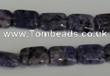 CLJ283 15.5 inches 10*14mm rectangle dyed sesame jasper beads wholesale