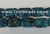 CLJ285 15.5 inches 10*14mm rectangle dyed sesame jasper beads wholesale
