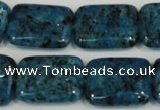 CLJ295 15.5 inches 15*20mm rectangle dyed sesame jasper beads wholesale