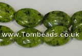 CLJ321 15.5 inches 13*18mm oval dyed sesame jasper beads wholesale