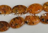 CLJ322 15.5 inches 13*18mm oval dyed sesame jasper beads wholesale