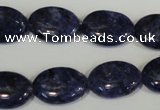 CLJ325 15.5 inches 13*18mm oval dyed sesame jasper beads wholesale
