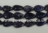 CLJ332 15.5 inches 8*12mm flat teardrop dyed sesame jasper beads