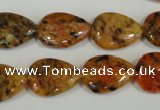 CLJ336 15.5 inches 13*18mm flat teardrop dyed sesame jasper beads