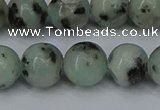 CLJ404 15.5 inches 12mm round sesame jasper beads wholesale