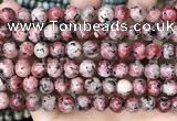 CLJ506 15.5 inches 4mm,6mm,8mm,10mm & 12mm round sesame jasper beads