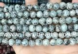 CLJ516 15.5 inches 4mm,6mm,8mm,10mm & 12mm round sesame jasper beads