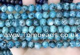 CLJ519 15.5 inches 4mm,6mm,8mm,10mm & 12mm round sesame jasper beads