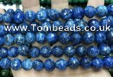 CLJ573 15 inches 10mm faceted round sesame jasper beads