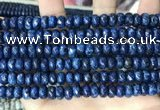 CLJ621 15 inches 5*8mm faceted round sesame jasper beads