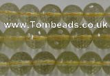 CLQ164 15.5 inches 12mm faceted round natural lemon quartz beads