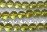 CLQ204 15.5 inches 12mm round natural lemon quartz beads wholesale