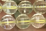 CLQ322 15.5 inches 8mm faceted round natural lemon quartz beads