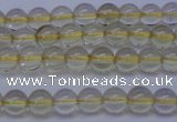 CLQ350 15 inches 4mm round natural lemon quartz beads wholesale