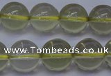 CLQ353 15 inches 10mm round natural lemon quartz beads wholesale