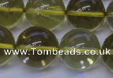 CLQ355 15 inches 14mm round natural lemon quartz beads wholesale