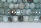 CLR100 15.5 inches 2*3mm faceted rondelle larimar gemstone beads