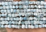 CLR142 15.5 inches 5*6mm - 6*8mm nuggets natural larimar beads