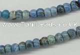 CLR200 15.5 inches 4*6mm rondelle larimar gemstone beads