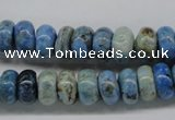 CLR202 15.5 inches 6*10mm rondelle larimar gemstone beads