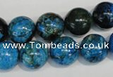 CLR305 15.5 inches 14mm round dyed larimar gemstone beads