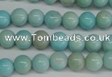CLR351 15.5 inches 6mm round dyed larimar gemstone beads