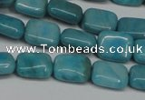 CLR390 15.5 inches 8*10mm rectangle dyed larimar gemstone beads