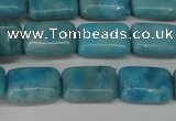 CLR391 15.5 inches 8*12mm rectangle dyed larimar gemstone beads