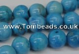 CLR403 15.5 inches 10mm round dyed larimar gemstone beads