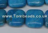 CLR435 15.5 inches 20*20mm square dyed larimar gemstone beads