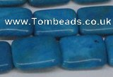 CLR443 15.5 inches 13*18mm rectangle dyed larimar gemstone beads