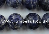 CLS152 15.5 inches 20mm faceted round sodalite gemstone beads