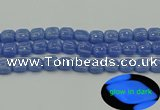 CLU192 15.5 inches 12*12mm square blue luminous stone beads
