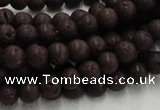 CLV201 15.5 inches 8mm round coffee natural lava beads wholesale